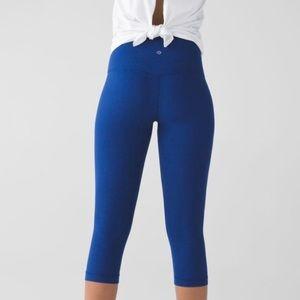 NWOT Lululemon Align Crop: Size 6 Rugged Blue